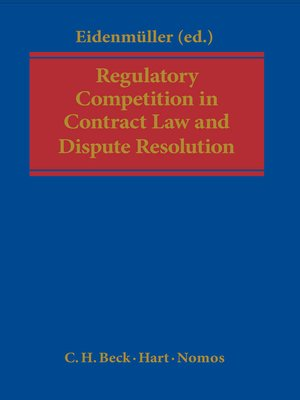 cover image of Regulatory Competition in Contract Law and Dispute Resolution