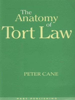 cover image of The Anatomy of Tort Law