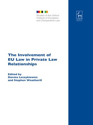 cover image of The Involvement of EU Law in Private Law Relationships