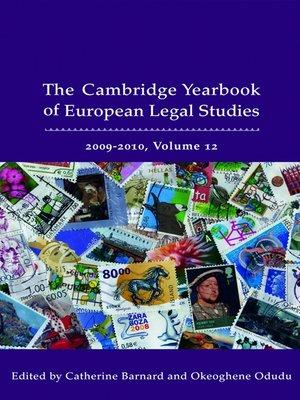 cover image of Cambridge Yearbook of European Legal Studies, Volume 12
