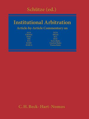 cover image of Institutional Arbitration