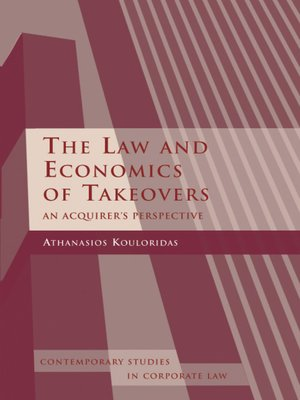 cover image of The Law and Economics of Takeovers