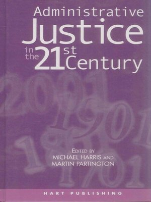 cover image of Administrative Justice in the 21st Century