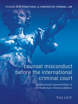 cover image of Counsel Misconduct Before the International Criminal Court