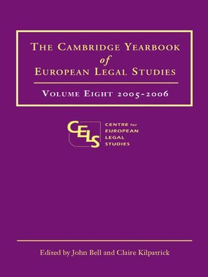 cover image of The Cambridge Yearbook of European Legal Studies, Volume 8
