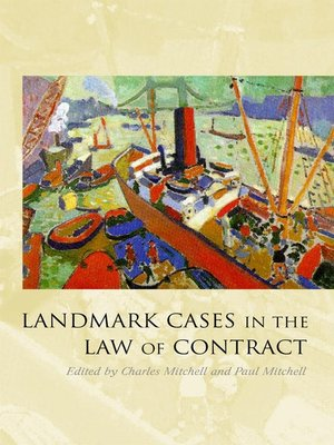 cover image of Landmark Cases in the Law of Contract