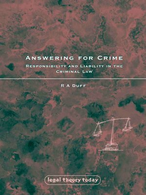 cover image of Answering for Crime
