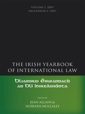 cover image of The Irish Yearbook of International Law, Volume 2