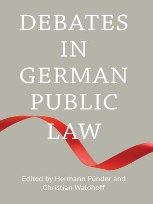cover image of Debates in German Public Law