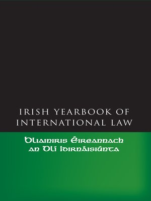 cover image of The Irish Yearbook of International Law, Volume 1