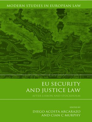 cover image of EU Security and Justice Law