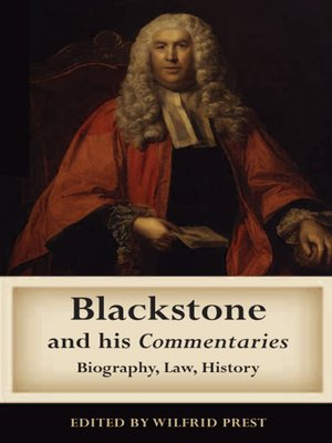 cover image of Blackstone and his Commentaries