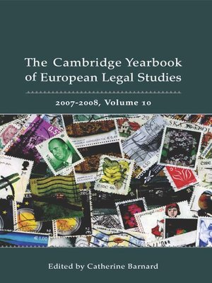cover image of The Cambridge Yearbook of European Legal Studies, Volume 10