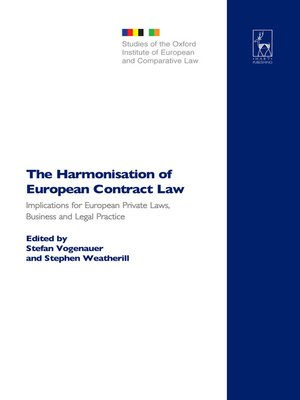cover image of The Harmonisation of European Contract Law