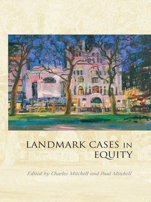 cover image of Landmark Cases in Equity