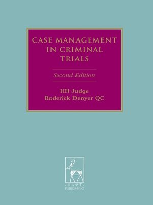 cover image of Case Management in Criminal Trials
