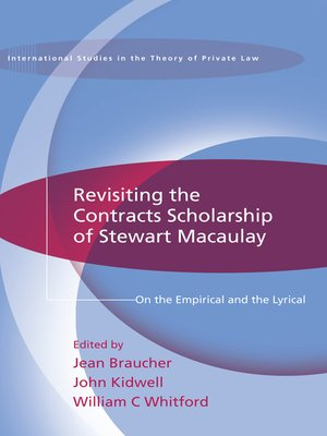 cover image of Revisiting the Contracts Scholarship of Stewart Macaulay