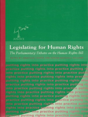 cover image of Legislating for Human Rights