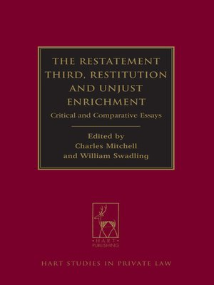 cover image of The Restatement Third, Restitution and Unjust Enrichment