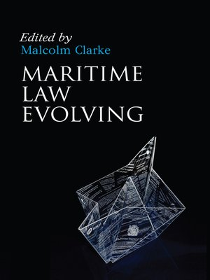 cover image of Maritime Law Evolving
