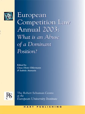 cover image of European Competition Law Annual 2003