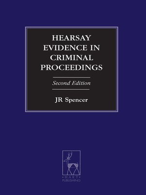 cover image of Hearsay Evidence in Criminal Proceedings