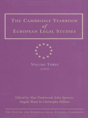 cover image of The Cambridge Yearbook of European Legal Studies, Volume 3