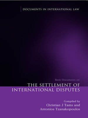 cover image of The Settlement of International Disputes