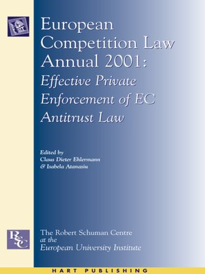 cover image of European Competition Law Annual 2001