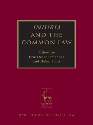 cover image of Iniuria and the Common Law