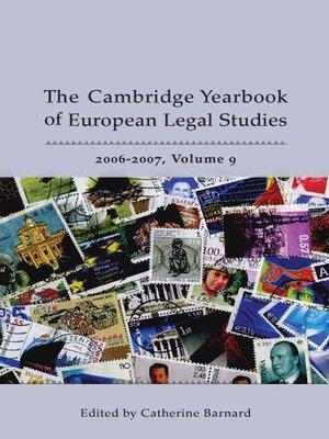 cover image of The Cambridge Yearbook of European Legal Studies, Volume 9