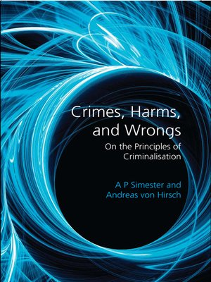 cover image of Crimes, Harms, and Wrongs