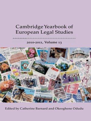 cover image of Cambridge Yearbook of European Legal Studies, Volume 13