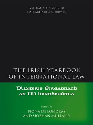 cover image of The Irish Yearbook of International Law, Volumes 4-5, 2009-10