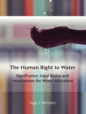 cover image of The Human Right to Water