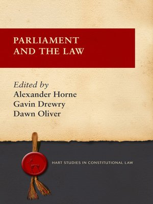 cover image of Parliament and the Law