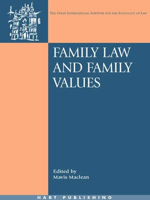 cover image of Family Law and Family Values