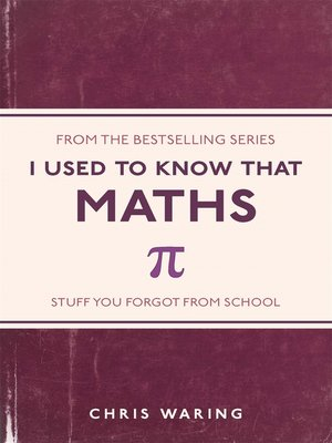 cover image of I Used to Know That: Maths