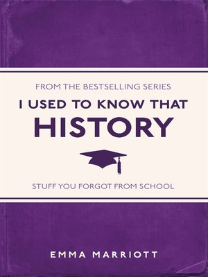 cover image of I Used to Know That: History