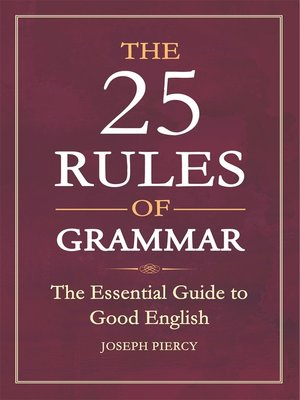 cover image of The 25 Rules of Grammar