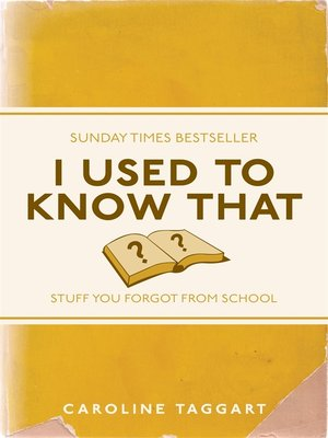 cover image of I Used To Know That