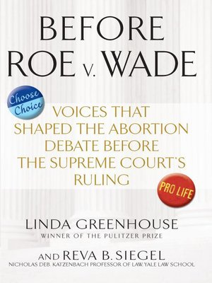 cover image of Before Roe v. Wade