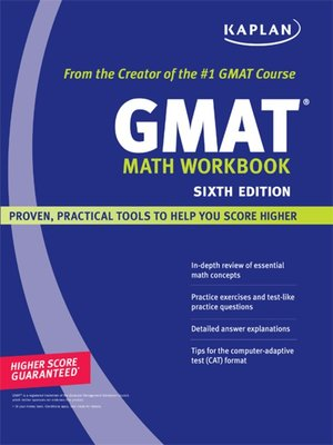 Kaplan Gmat Math Workbook Ebook