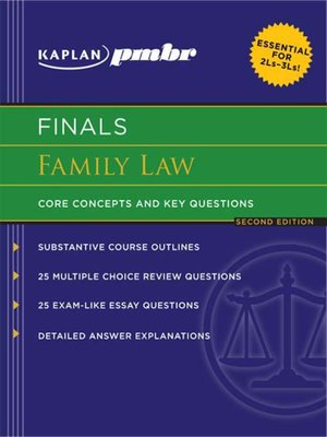 Family Law: Core Concepts and Key Questions by Kaplan PMBR