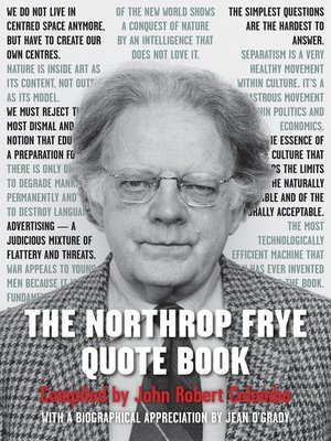 cover image of The Northrop Frye Quote Book