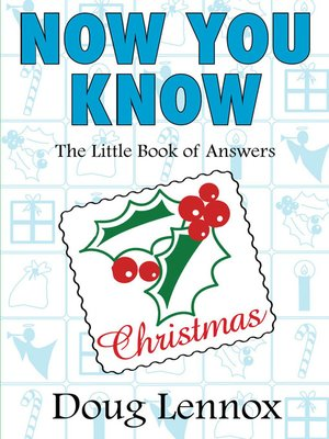 cover image of Now You Know Christmas
