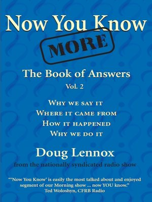 cover image of Now You Know More