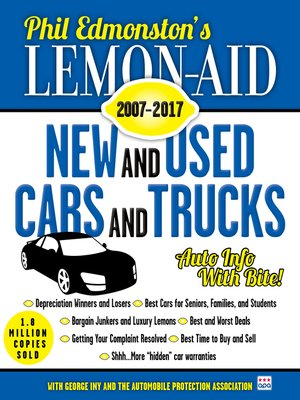 cover image of Lemon-Aid New and Used Cars and Trucks 2007–2017