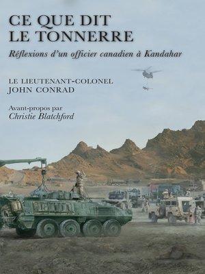 cover image of Ce que dit le tonnerre