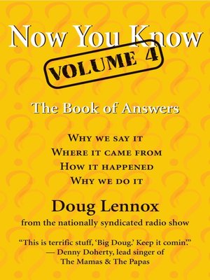cover image of Now You Know, Volume 4